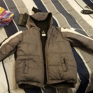 Jordan boys gray coat sized 12/14